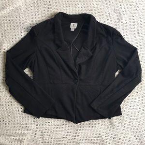 🧼3/$20 Worthington Modern Knit Large Black Blazer
